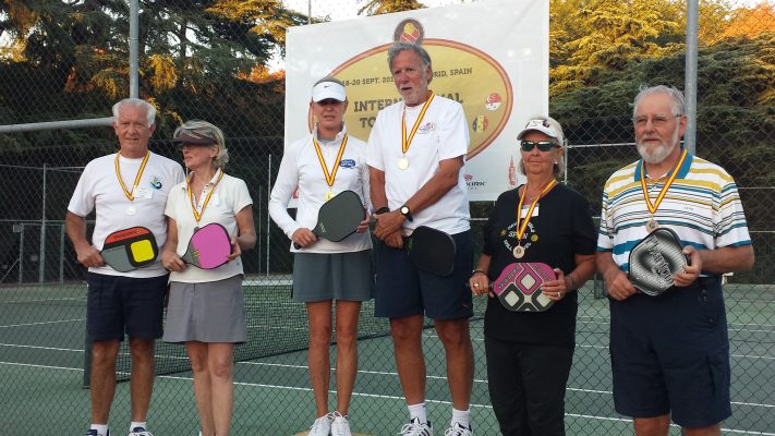 60+ Mixed Doubles medalists