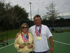 SUE AND ART WITH GOLD MEDALS FROM FLORIDA STATE FINALS PICKLEBALL (2)